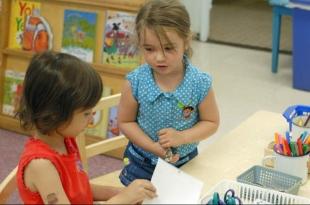 Girls in preschool